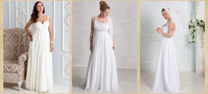 Свадебные платья в греческом стиле в свадебном салоне