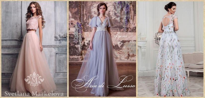 Разноцветные свадебные платья Edlerweiss